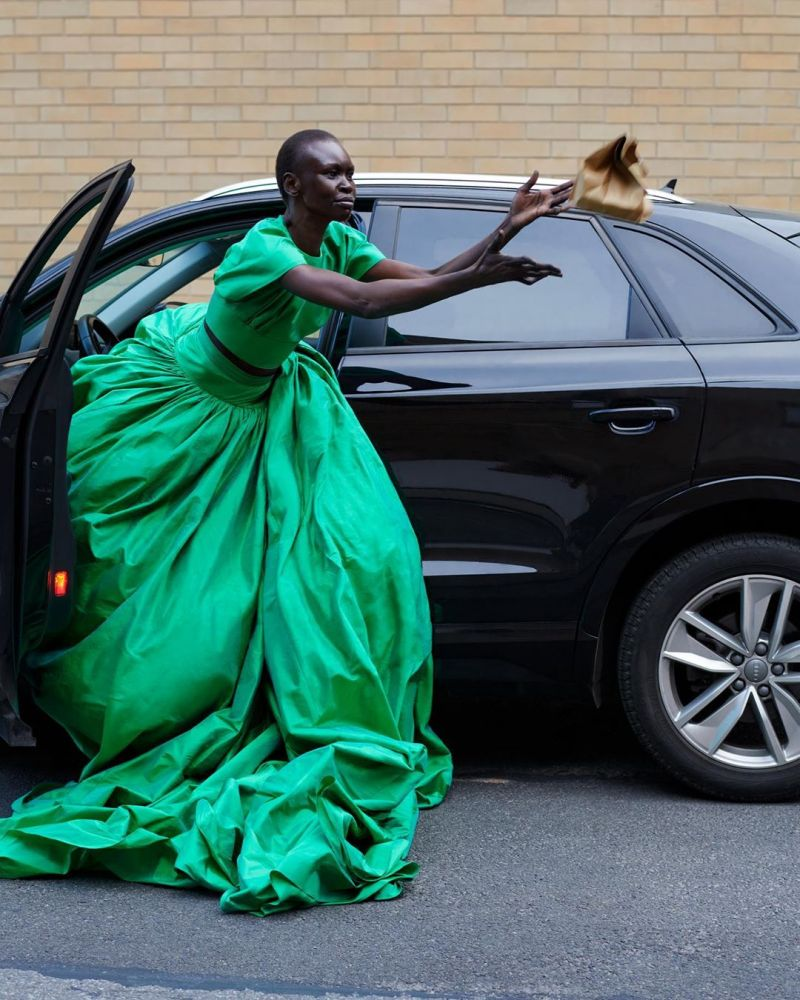 Photo of Alek Wek  - car