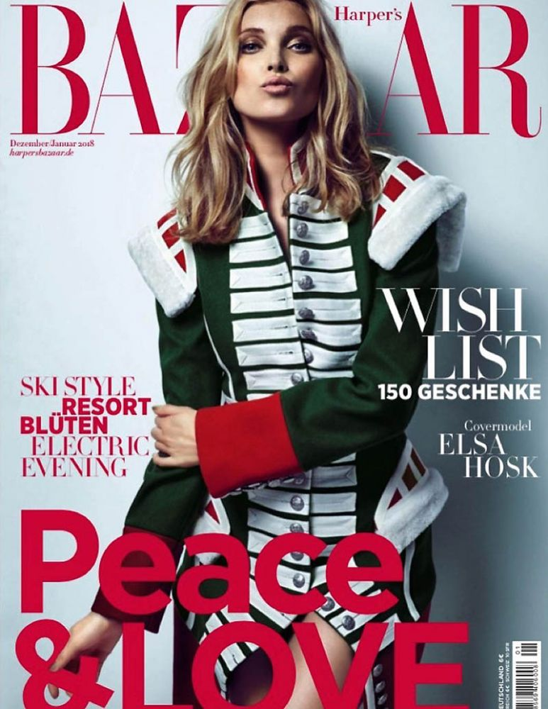 Elsa Hosk | Harper's Bazaar Germany December 2018 | IMG Models