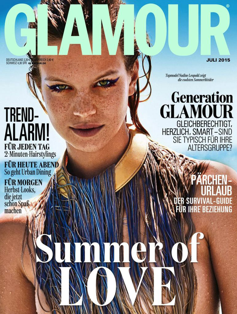 Nadine Leopold Glamour Germany July 2015 Img Models